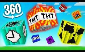 360 VR Minecraft MORE TNT MOD | 4K Virtual Reality Experience