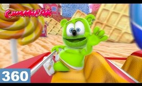 360 Video Roller Coaster VR HD Gummy Bear Candy Coaster Animated
