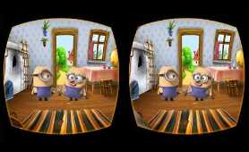 VR Minions Virtual Reality 3D Cartoon Video for children 2018