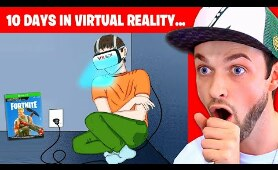 I spent 10 DAYS in a VR Headset and THIS happened... (True Story Animation)
