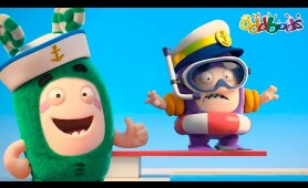 Oddbods | NEW | SPLASHING AT THE POOL | Funny Cartoons For Kids