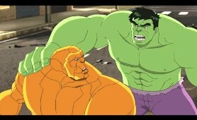 Hulk vs fantastic 4 The Thing